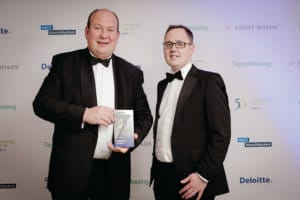 Azzure MD Craig Such and Customer Services Director Simon Levine collect their award